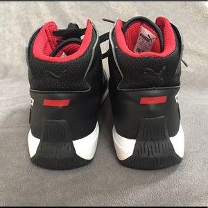 Puma Shoes - HP ✨ Puma Ferrari Designer Black HighTops Sneakers